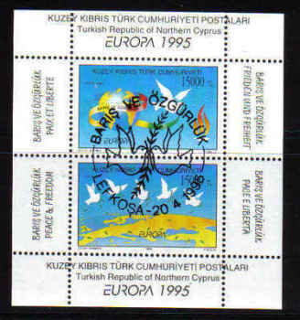 North Cyprus Stamps SG 395 MS 1995 Europa - USED (a384)
