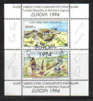 North Cyprus Stamps SG 372 MS 1994 Europa Archaelogical Discoveries - USED (a383)