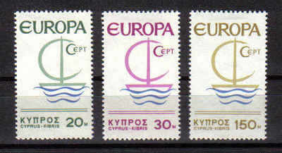 Cyprus Stamps SG 280-82 1966 Europa Ship - MINT