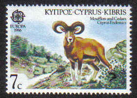 Cyprus Stamps SG 678 1986 7 Cents - MINT