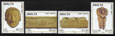 MALTA STAMPS SG 1515-18 2007 Prehistoric sculptures - mint
