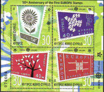 Cyprus Stamps SG 1105 MS 2006 50th Anniversary of the first Europa issues - MINT