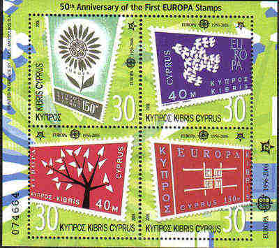 Cyprus Stamps SG 1105 MS 2006 50th Anniversary of the first Europa issues -