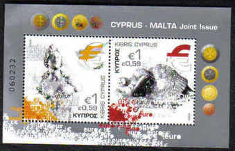 Cyprus Stamps SG 1156 MS 2008 Cyprus Malta joint issue - MINT
