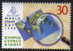 Cyprus Stamps SG 960 1998 World stamp day - MINT