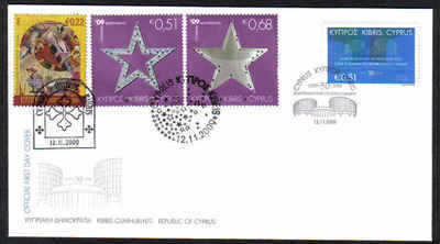 Cyprus Stamps SG 1206 and 1207-09 2009 European Court of Human Rights and C