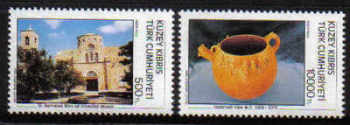 North Cyprus Stamps SG 351-52 1993 Tourism 3rd Series - MINT