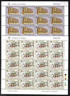CYPRUS STAMPS SG 771-73 1990 EUROPA POST OFFICE BUILDINGS FULL SHEETS - MIN