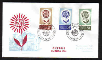 Cyprus Stamps SG 249-51 1964 Europa Flower - Unofficial FDC (F172)