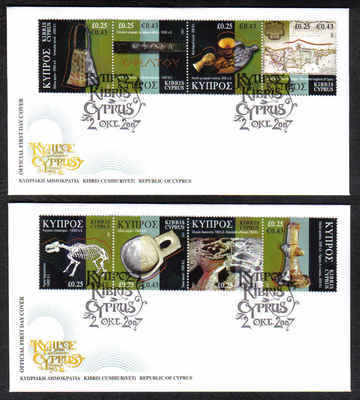 Cyprus Stamps SG 1137-44 2007 Cyprus through the ages part 1 - Official FDC