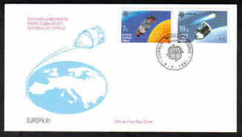 Cyprus Stamps SG 798-99 1991 Europa Space - Official FDC