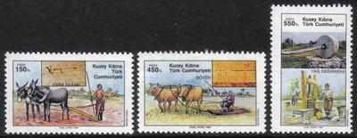North Cyprus Stamps SG 270-72 1989 Agricultural Implements - MINT