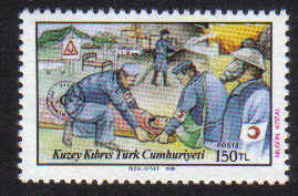 North Cyprus Stamps SG 236 1988 Civil Defence - MINT