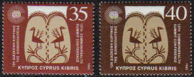 Cyprus Stamps SG 841-42 1993 12th Commonweath Summit - MINT