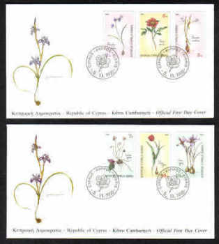 Cyprus Stamps SG 785-90 1990 Wild Flowers  - Official FDC