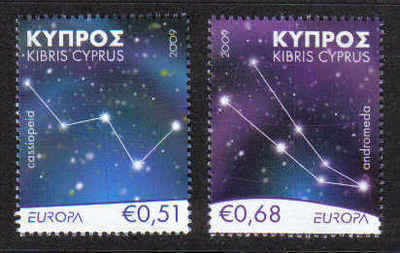 Cyprus Stamps SG 1188-89 2009 Europa Astronomy - MINT