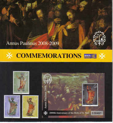 MALTA STAMPS SG 1595-97 2008 Presentation pack - mint
