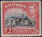 Cyprus Stamps SG 155c 1944 2 Piastres King George VI - MLH
