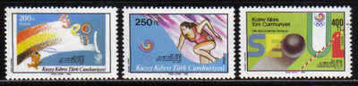 North Cyprus Stamps SG 237-39 1988 Seoul Olympic Games - MINT
