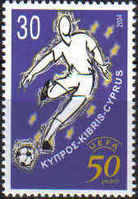 Cyprus Stamps SG 1070 2004 UEFA Football - MINT