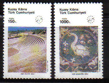 North Cyprus Stamps SG 286-87 1990 Tourism - MINT