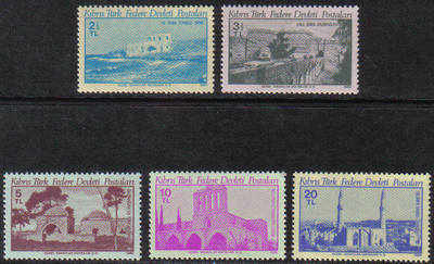 North Cyprus Stamps SG 093-97 1980 Monuments - MINT