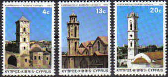 Cyprus Stamps SG 625-27 1983 Christmas Church Towers - MINT