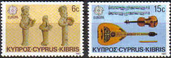 CYPRUS STAMPS SG 663-64 1985 EUROPA, COMPOSERS & MUSICIANS - MINT