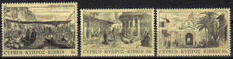 Cyprus Stamps SG 628-30 1984 Old Engravings - MINT