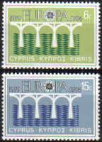 Cyprus Stamps SG 632-33 1984 Europa Bridges - MINT
