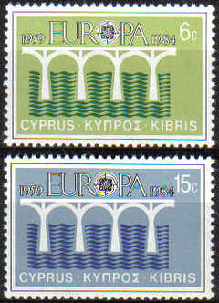 Cyprus Stamps SG 632-33 1984 Europa Bridges - MINT