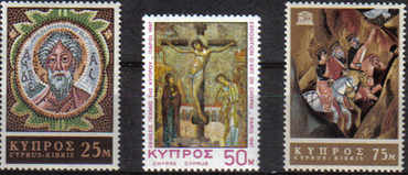 Cyprus Stamps SG 313-15 1967 Religious Art UNESCO - MINT