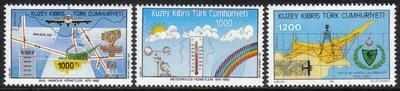 North Cyprus Stamps SG 344-46 1992 Anniversaries and Events 2nd Series - MI