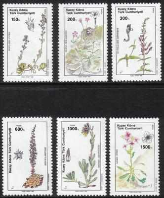 North Cyprus Stamps SG 293-298 1990 Plants - MINT