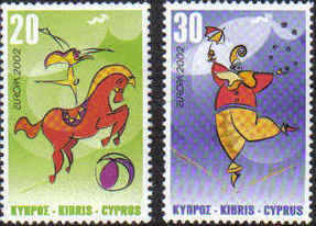 Cyprus Stamps SG 1029-30 2002 Europa Circus - MINT