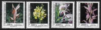 NORTH CYPRUS STAMPS SG 311-14 1991 ORCHIDS (2nd Series) - MINT
