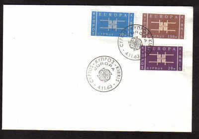 Cyprus Stamps SG 234-36 1963 Europa Emblem - Unofficial FDC (p78)