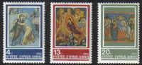 Cyprus Stamps SG 670-72 1985 Christmas Church Frescoes - MINT
