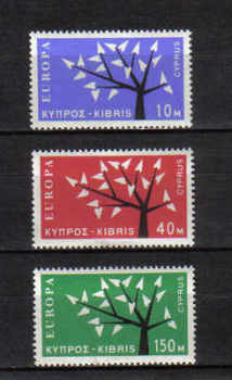 Cyprus Stamps SG 224-26 1963 Europa Tree - MLH