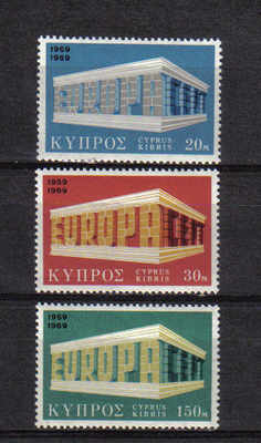 Cyprus Stamps SG 331-33 1969 Europa - MINT