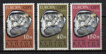 Cyprus Stamps SG 423-25 1974 Europa Sculpture - MINT