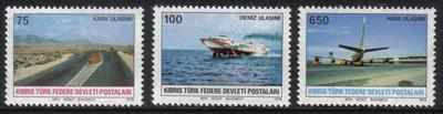 North Cyprus Stamps SG 065-67 1978 Communications - MINT