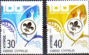 Cyprus Stamps SG 1133-34 2007 Europa 100yrs of Scouting - MINT