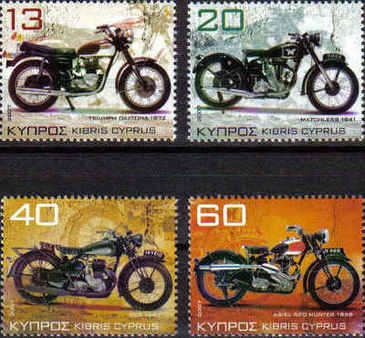 Cyprus Stamps SG 1128-31 2007 Motorcycles - MINT