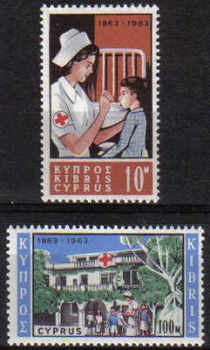 Cyprus Stamps SG 232-33 1963 Red Cross Centenary - MINT