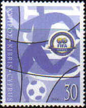 Cyprus Stamps SG 1069 2004 FIFA Football - MINT
