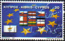 Cyprus Stamps SG 1071 2004 Europa EU Flags - MINT