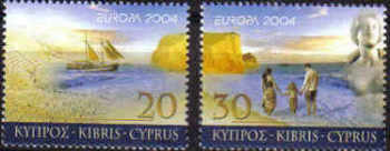 Cyprus Stamps SG 1073-74 2004 Europa Holidays - MINT