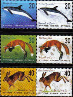 Cyprus Stamps SG 1079-84 2004 Mammals - MINT