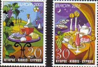 Cyprus Stamps SG 1096-97 2005 Europa Gastronomy - MINT